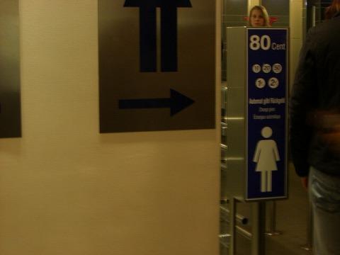 トイレ80セント
