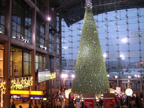 中央駅のクリスマスツリー