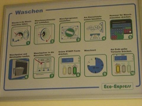 コインランドリー洗濯機説明